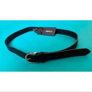 F21 Faux Leather Black Belt